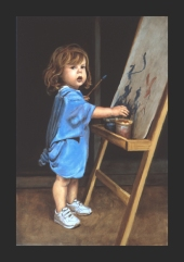 Jeanie, Child Caught in the Act of Making Art