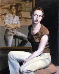 Self Portrait with Seated Woman