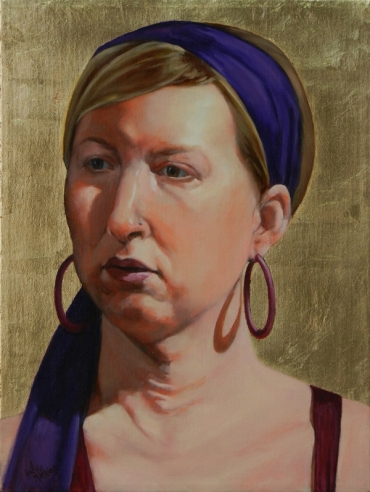Woman with Hoop Earrings