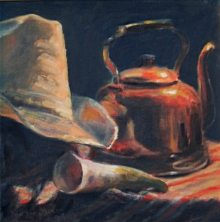 Cowboy Hat and Tea Kettle