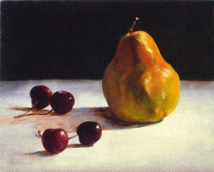 Pear and Cherries #4