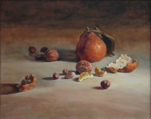 Still Life with Tangelo and Nuts