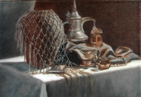 Still Life with Beaded Shawl
