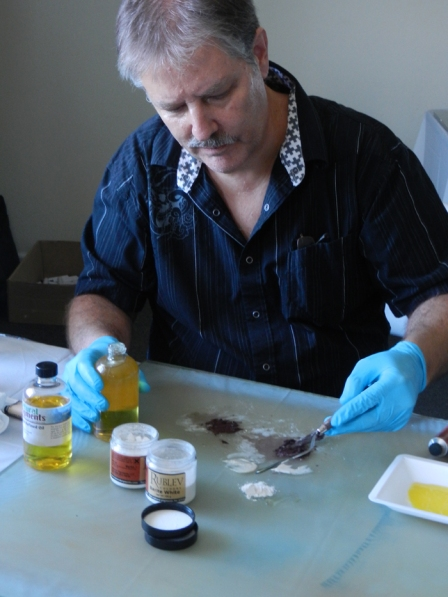Paint making by hand