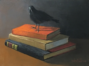 Crow with Books