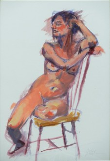 "Emily in Chair, 11"" x 14"""