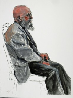 Man Seated with Cane