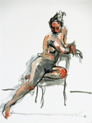 Seated Nude in Chair