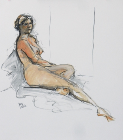 Semi-reclining Nude