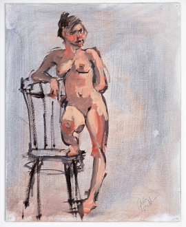Standing Nude with Chair