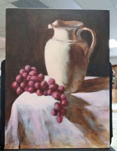 starting color on the still life