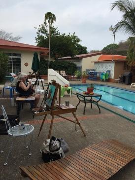 Painting Poolside