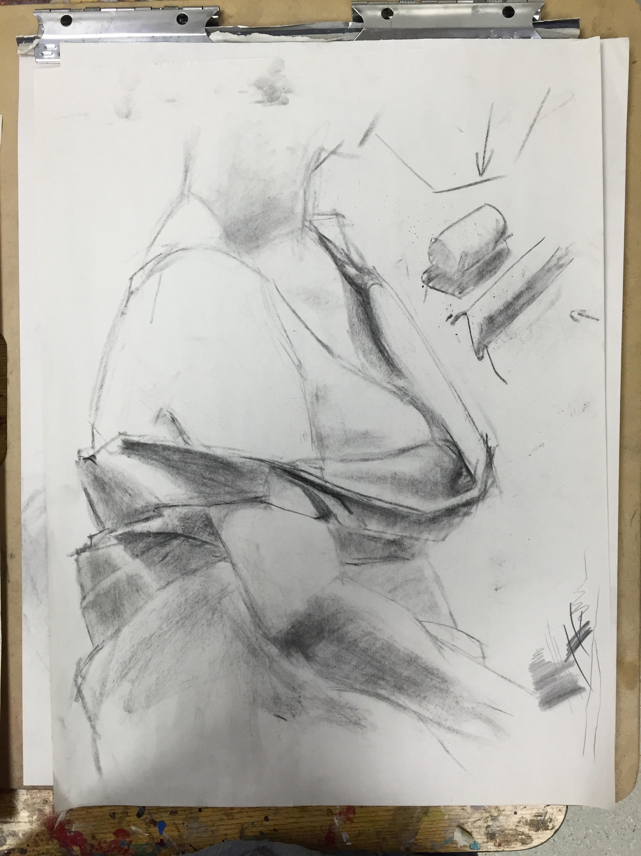 Figure Drawing drapery demo