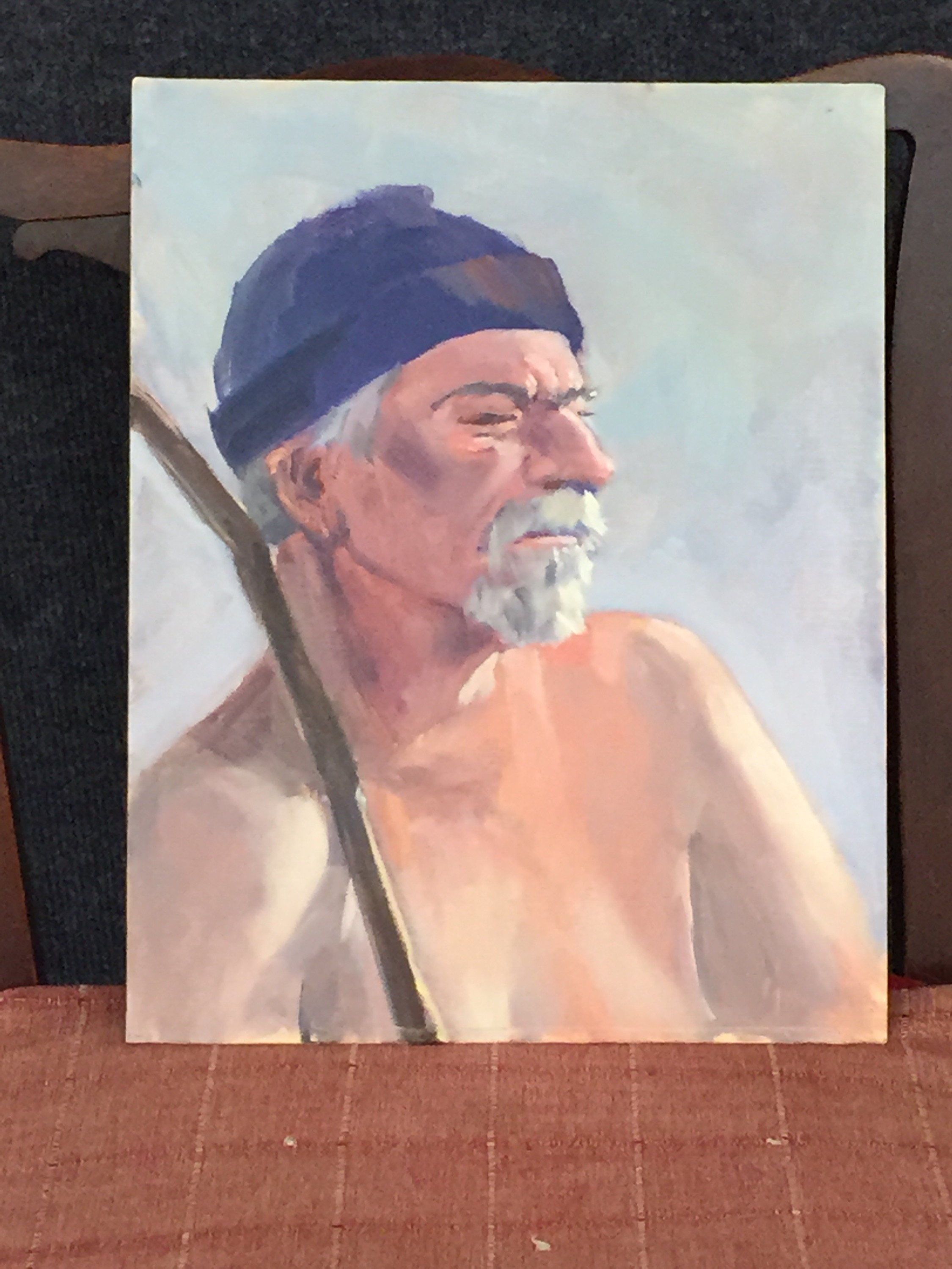 David H., one hour oil portrait