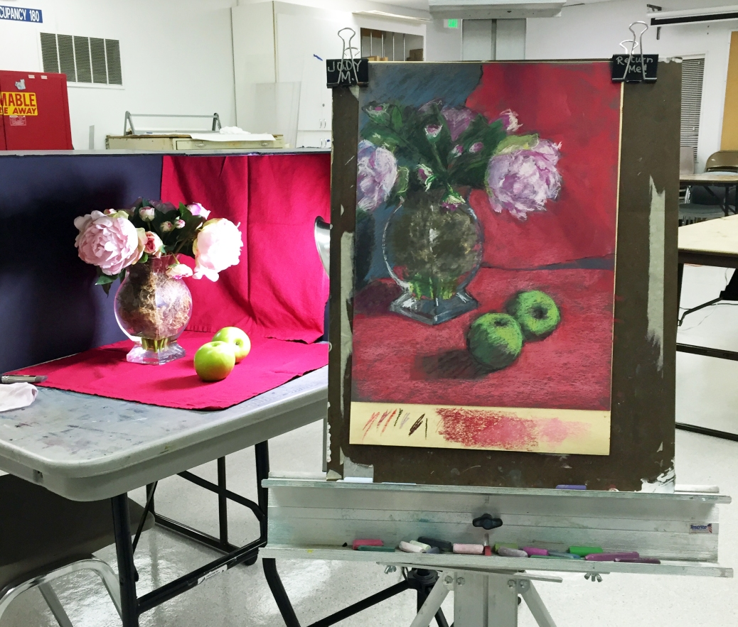 Still Life set-up and painting, in progress